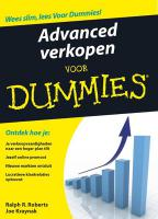 Advanced verkopen voor dummies (E-book)